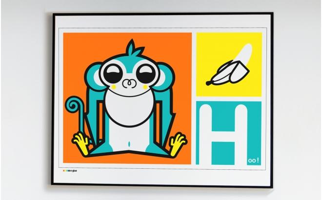 Affiches Serigraphies Art Enfants singe