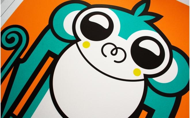 Posters Affiche Bébé singe