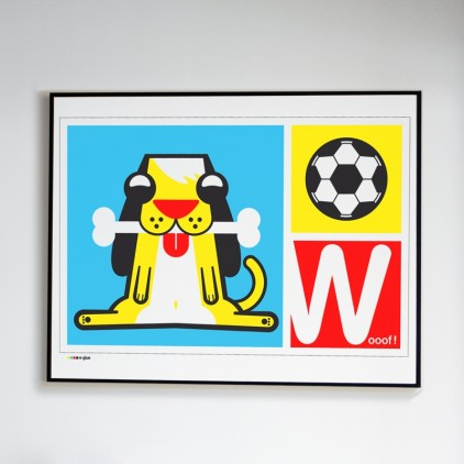 Láminas Carteles Serigrafias Infantiles perro