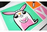 Lámina Pósters Bebé conejo