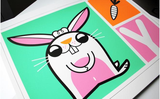 Posters Affiche Bébé lapin