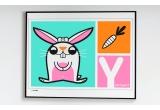 Láminas Carteles Serigrafias Infantiles conejo
