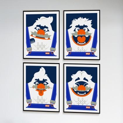 Affiches Serigraphies Art Enfants yéti big foot