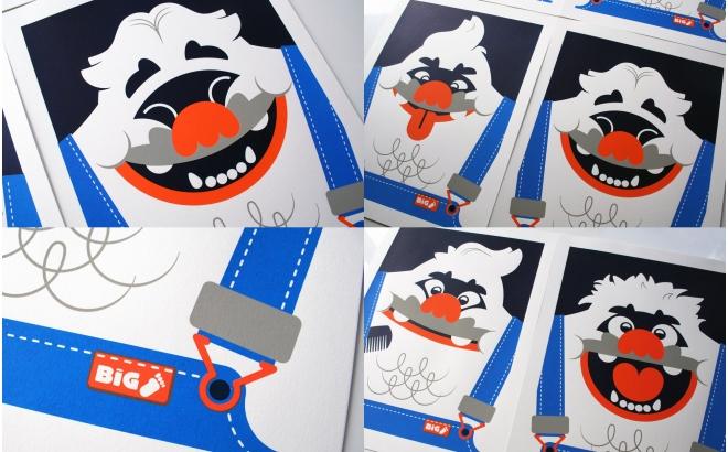 Posters Affiche Bébé yéti big foot (content)