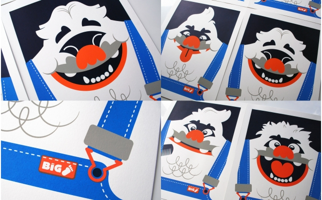 big foot (happy) yeti Baby Posters Prints