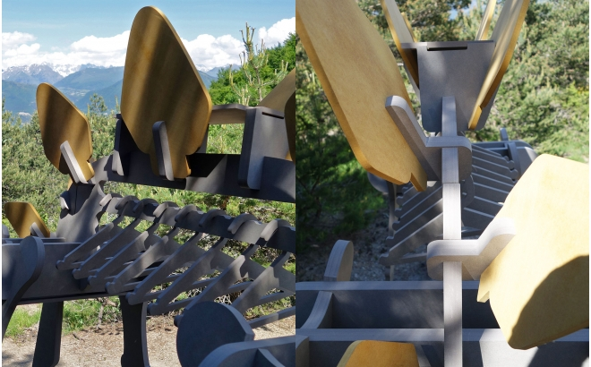Wood Dino-shaped Clothes Rack for kids room, Garment Rack Stegorage for boys bedroom by E-Glue design studio