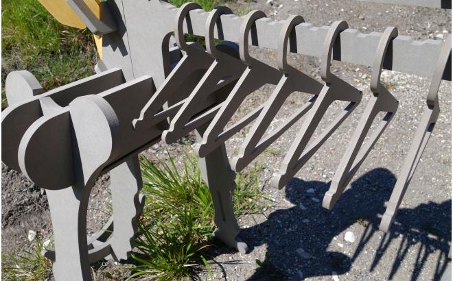 STEGORAGE Porte Vêtements Enfants en Bois Dinosaure, Portant Habits Garçon par le studio design E-Glue