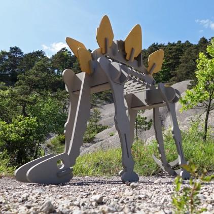 STEGORAGE Porte Vêtements Enfants en Bois Dinosaure, Portant Habits Garçon par le studio design