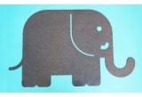 alfombra elefante de fieltro para habitación infantil bebé