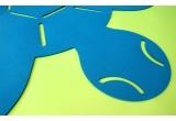 alfombra tortuga de fieltro para decoración de habitación infantil y bebé