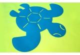 tapis tortue en feutre pour chambre bébé
