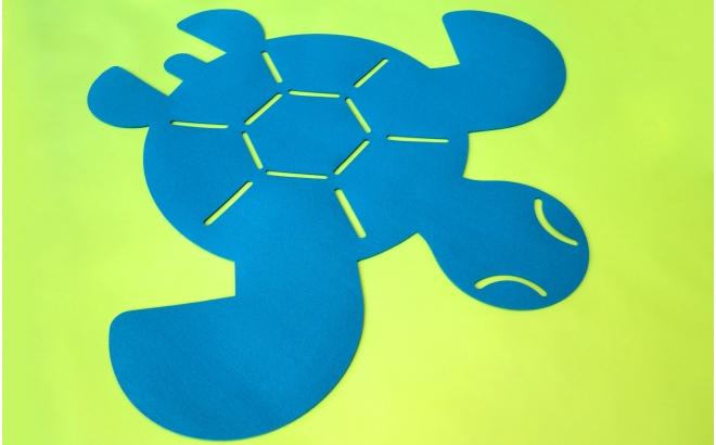 alfombra tortuga de fieltro para dormitorio bebé