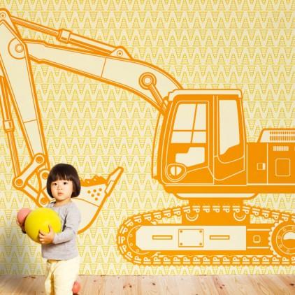 wallpaper mural excavator