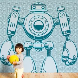 Papiers peints enfants robot d co chambre enfant gar on for Decoration chambre robot