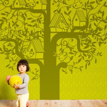 mural papel pintado árbol