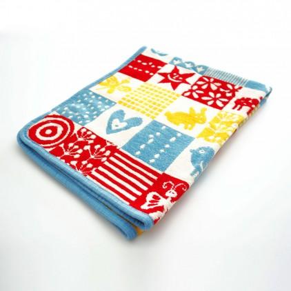couverture coton bébé enfant klippan quilt bleu