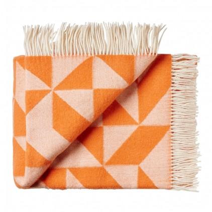 wool blanket twist a twill (orange)