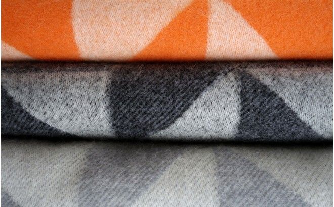 wool blanket twist a twill (orange)