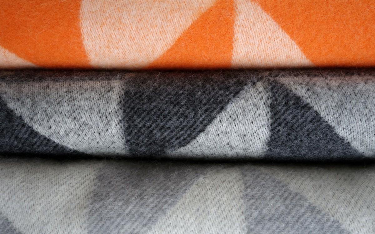 manta lana twist a twill (naranja)