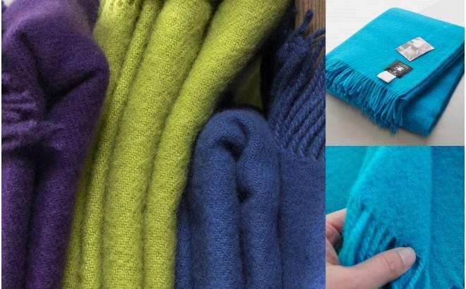 Silkeborg merino wool toddler blanket (pink)