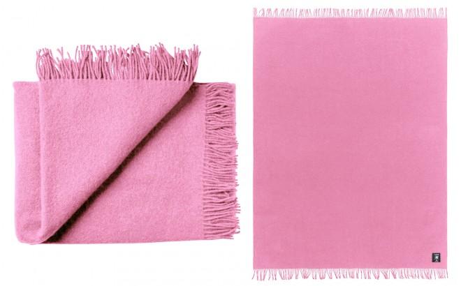 manta para niños de lana virgen de alta calidad Rosa