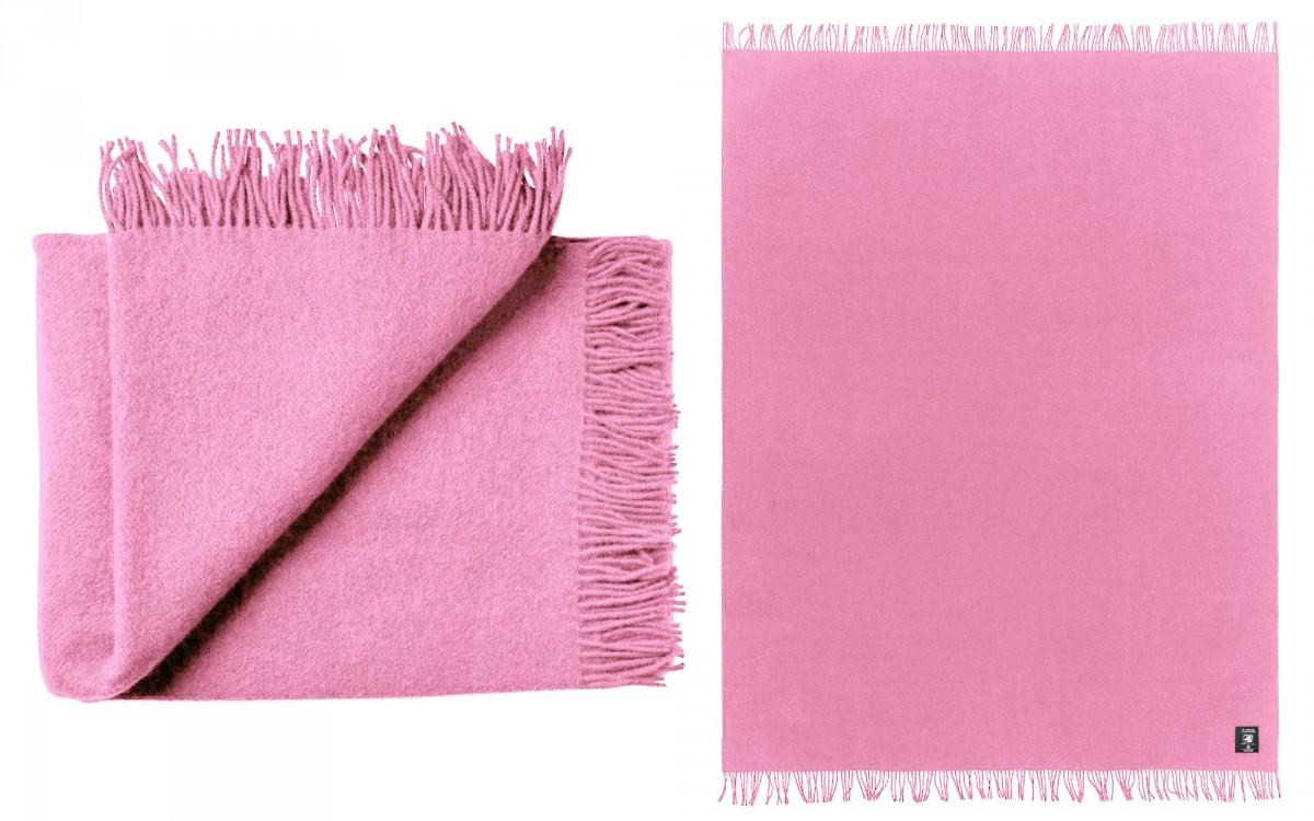 couverture enfant en laine (rose)