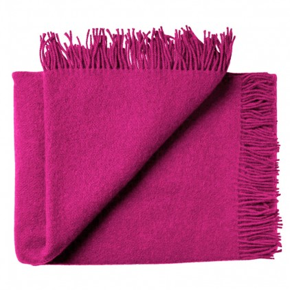 couverture enfant en laine scandinave rose framboise