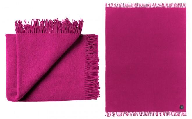 Couverture Enfant en Laine Haute Qualité rose framboise