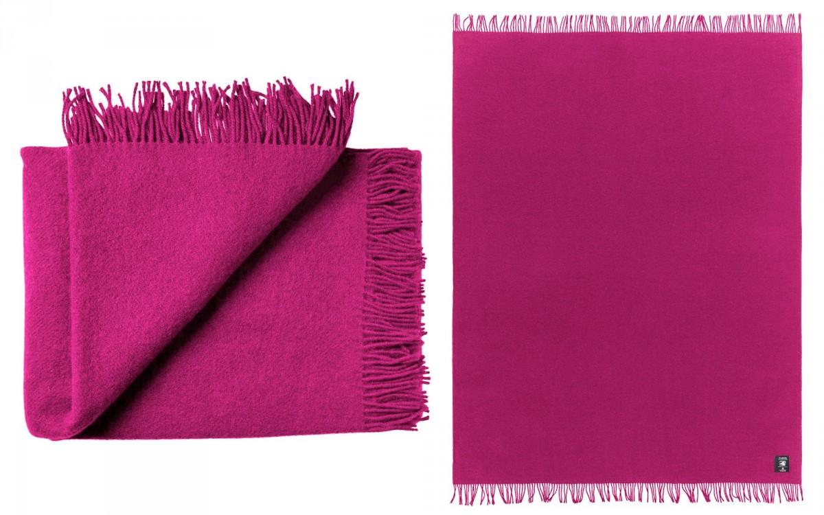 couverture enfant en laine (framboise)