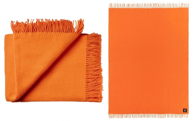 Orange High Quality Scandinavian Merino wool kids Blanket
