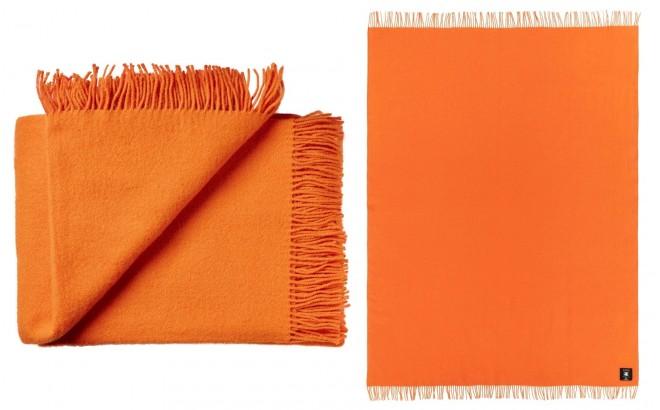 manta para niños de lana virgen de alta calidad naranja