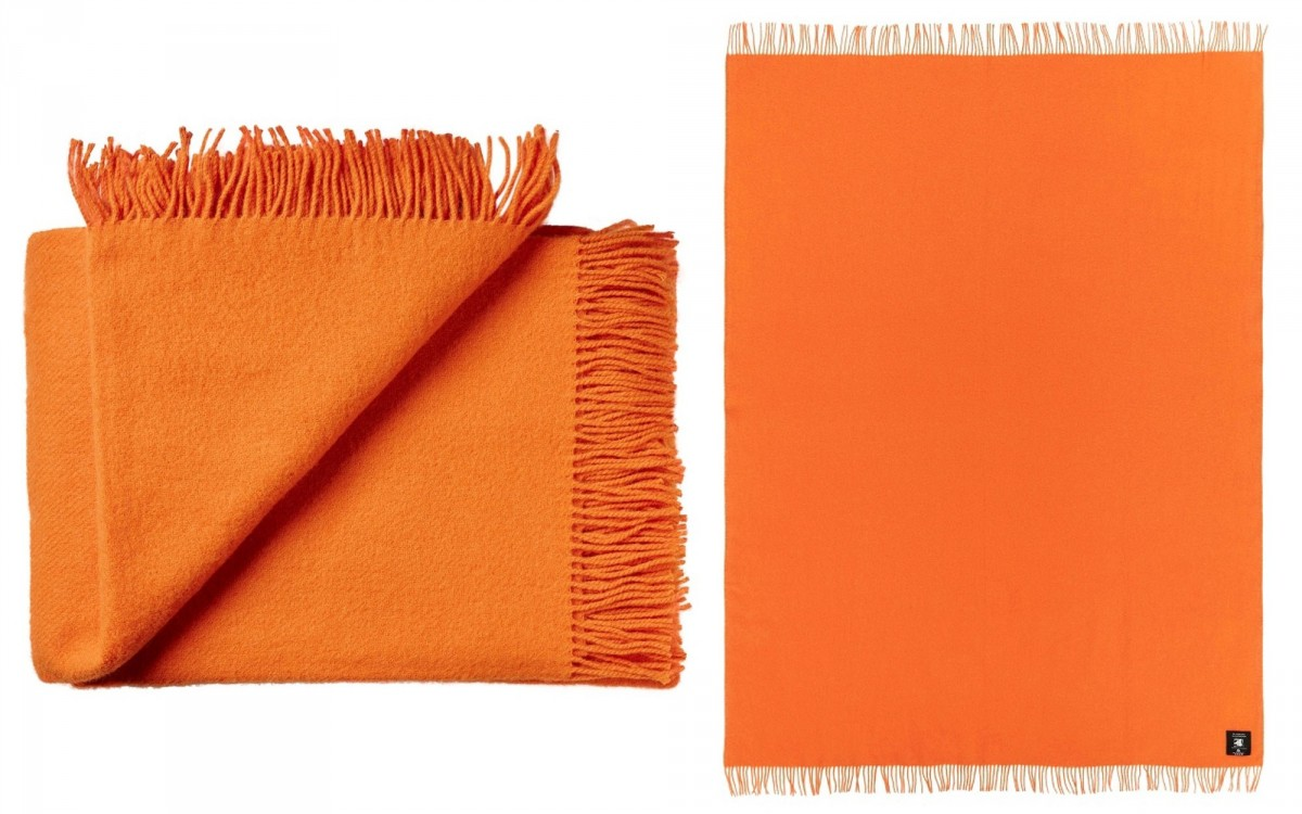 couverture enfant en laine (orange)
