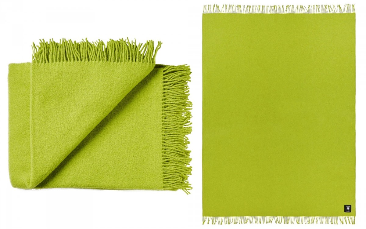 cobija de lana (amarillo verde)