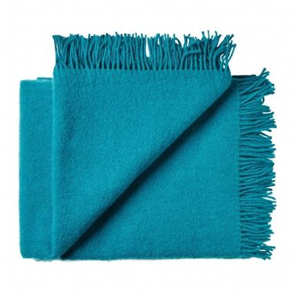 turquoise blue scandinavian wool blanket for kids