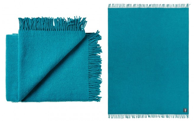 turquoise Blue High Quality Scandinavian Merino wool kids Blanket