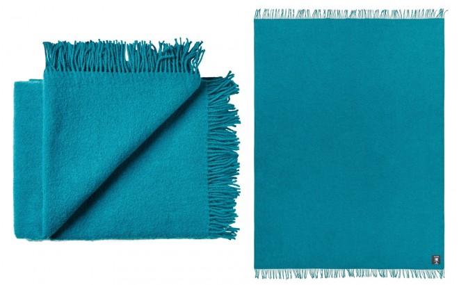 manta para niños de lana virgen de alta calidad azul turquesa