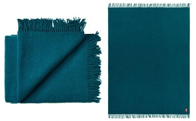 manta para niños de lana virgen de alta calidad azul petroleo