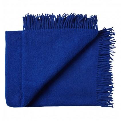 Manta infantil de lana merino Virgen ecológica azul Francia