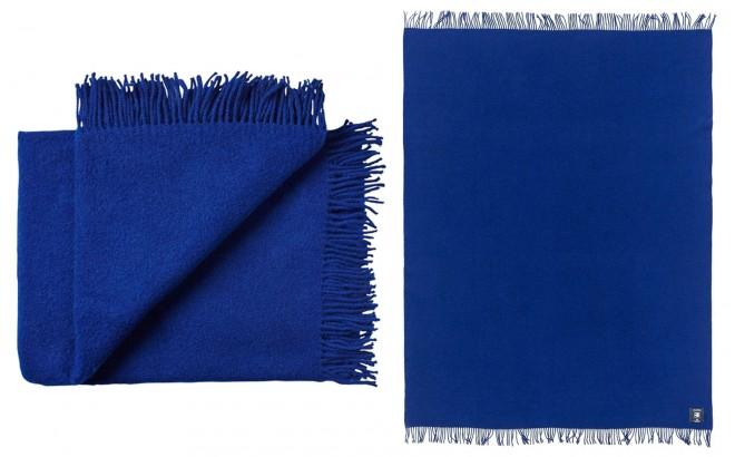 manta para niños de lana virgen de alta calidad azul Francia