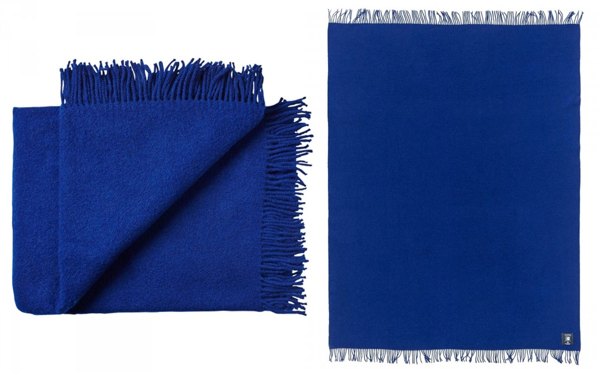 wool toddler blanket (royal blue)