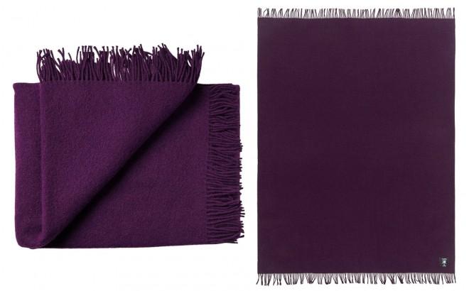 Couverture Enfant en Laine Haute Qualité violet aubergine