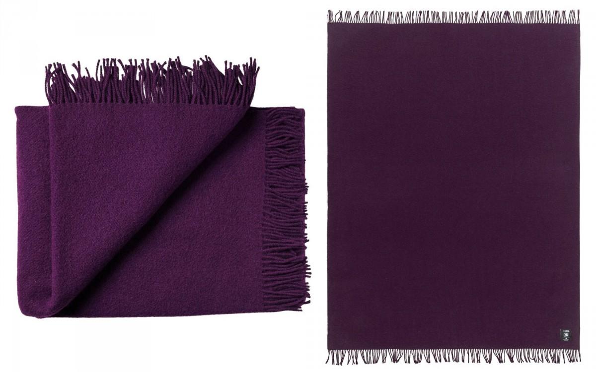 couverture enfant en laine (aubergine)