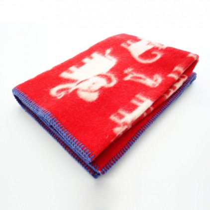 baby children kids wool blanket klippan jungle red