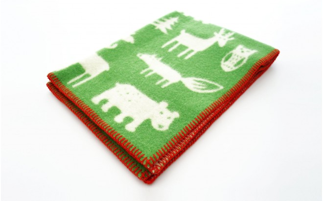 baby children kids wool blankets klippan forest green