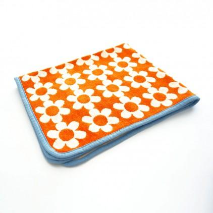 couverture coton bébé enfant klippan flower power orange