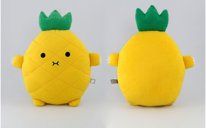 plush cushion for babies and kids Riceananas yellow by Noodoll