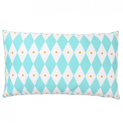 blue diamond touf touf pillow by Rose in April