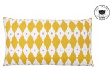 mustard diamond pillows for kids room by Rose in April