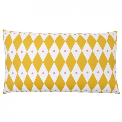 mustard yellow diamond touf touf pillow by Rose in April