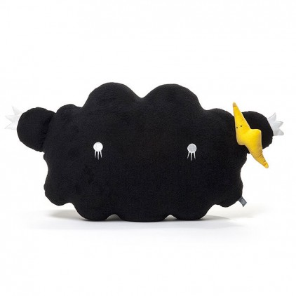black cloud plush cushion for babies and kids by Noodoll